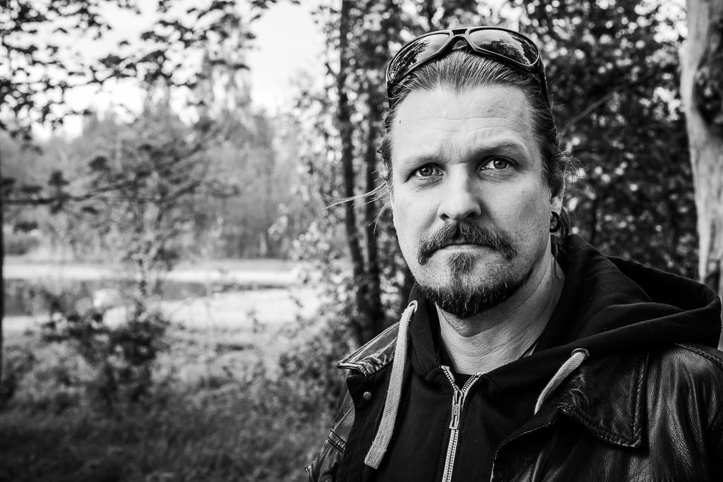 Esa Holopainen Örebron skutsissa.