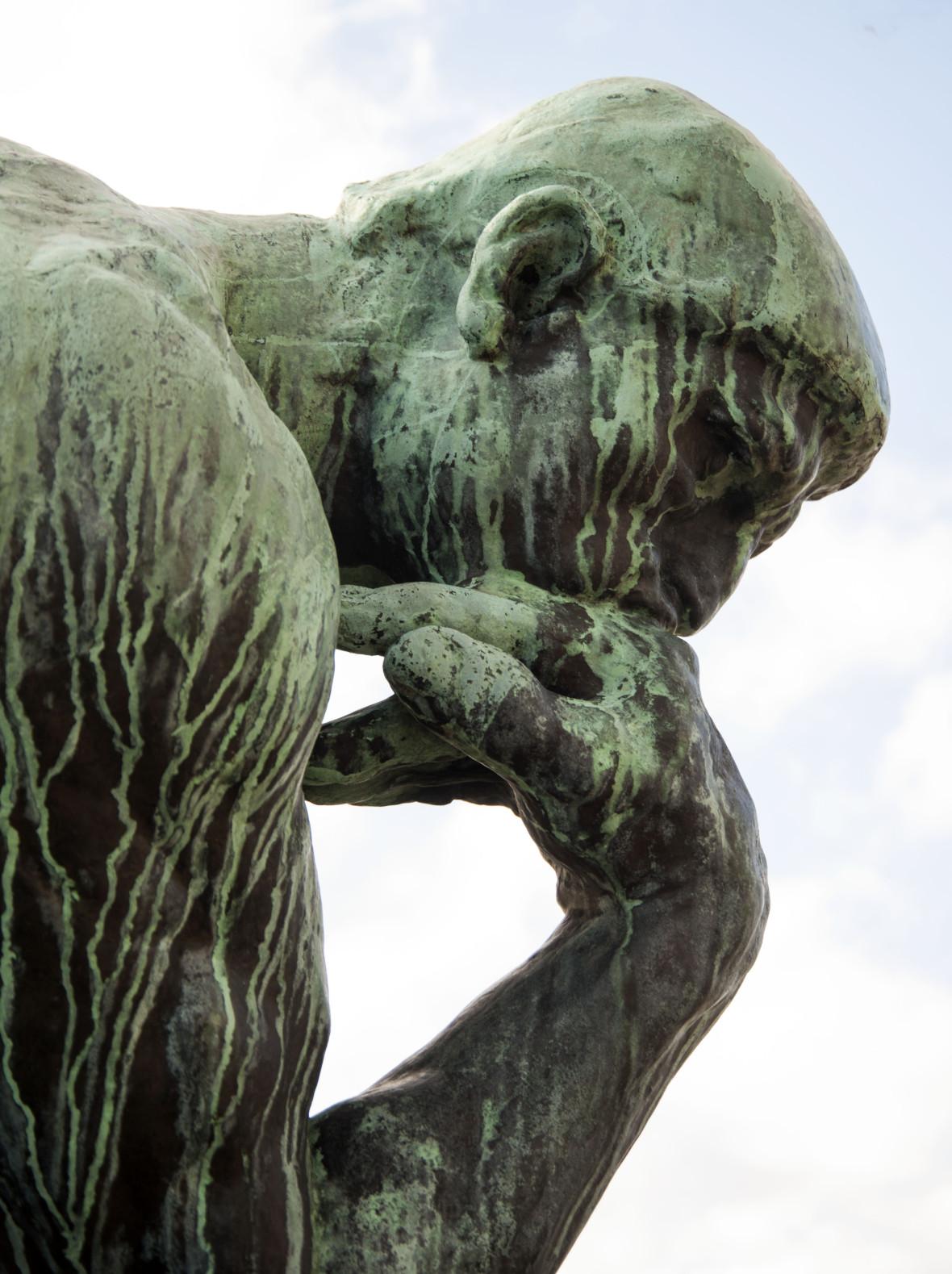 Auguste Rodin: Ajattelija (yksityiskohta), 1909. Prins Eugens Waldemarsudde. Kuva: Nationalmuseum / Linn Ahlgren