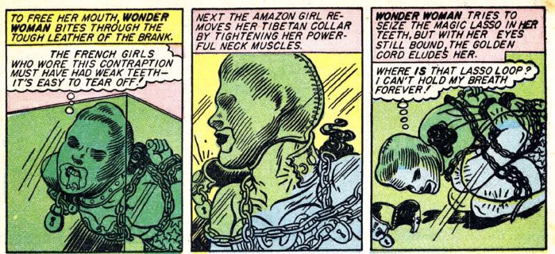 Tyylinäyte DC Comicsin Wonder Woman -sarjakuvasta.