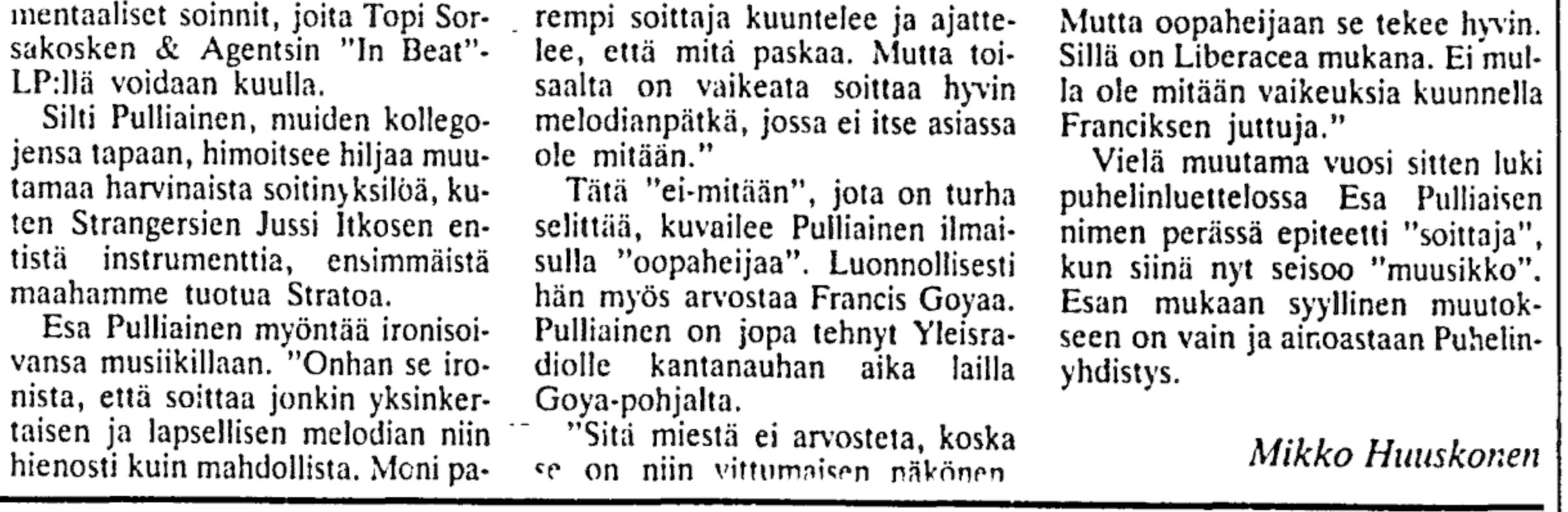 Helsingin Sanomat 28.6.1986